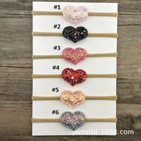 Wholesale importing hair accessories resale online - Dedicated to Jingdong imported super soft baby hair accessories European and American six color diamond love mother and baby hair band baby