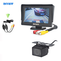Wholesale rear view wireless parking camera for sale - Group buy DIYKIT Wireless inch Car Monitor Backup Monitor Waterproof Rear View Camera Car Camera Parking Assistance System Kit