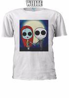 camisetas sin mangas de navidad al por mayor-Pesadilla antes de Navidad SallyJack Camiseta Chaleco Tank Top Hombres Mujeres Unisex 2487