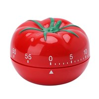 neue küchentimer großhandel-2018 neue kreative tomatenform kochen timer mechanische countdown timer wecker gadgets werkzeuge chrismas geschenke küche zubehör