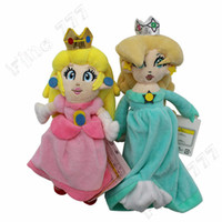 peluches princesa mario bros al por mayor-20 CM (7.9 pulgadas) Super Mario Bros princesa Peluches Princesa Peach Felpa Muñeca de Peluche Suave Juguetes Fiesta de Navidad Los mejores regalos