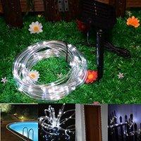 dış mekan yılbaşı dekorasyonları güneş aydınlatma toptan satış-BRELONG Güneş Işık Dize, 16.5FT 5 M 50 Şeffaf Tüp Peri Işık ile LED Işık Su Geçirmez Açık Düğün parti Noel Dekorasyon
