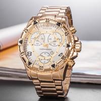 d relojes de marca al por mayor-Gran dial invicta cronógrafo de trabajo reloj de lujo reloj de los hombres de marca superior de silicona cinta de cuarzo reloj de pulsera cfo R hombres regalo relojes d