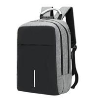 dizüstü bilgisayar çantası 15.6 toptan satış-Usb Şarj Laptop Sırt Çantası 15.6 Inç Hırsızlığa Karşı Su Geçirmez Büyük Kapasiteli Laptop Çantası