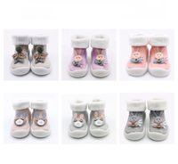 Wholesale toddler girl size 11 shoes online - Autumn winter plus velvet thickening Baby boys girls rabbit Floor socks Infant bunny First Walkers Soft rubber sole Toddler shoes C5764