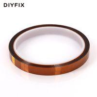 fita bga venda por atacado-DIYFIX 10 mm x 33m resistente ao calor Polyimide fita adesiva High Temperature Insulation Tape para BGA PCB SMT