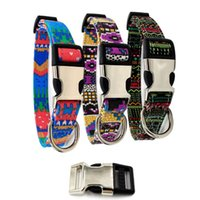 Wholesale canvas dog collars for sale - Group buy Canvas Pets Collar Bohemia Style Lettering Cats Dogs Collars Printing Pattern With Buckle Pet Dog Accessories br L1