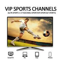 iptv sportkanäle großhandel-IPTV-Abonnement Französisch UK Sport mit Abonnement Iptv USA CA IT Arab 30 + Länder 7000 + Live-TV-Kanäle IPTV-Konto für Android-TV-Box