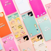 Wholesale cute sticky notepad resale online - stationery Set Memo Pads Sticky Notes Cute Auieo Animal Paper Diary Scrapbooking Stickers Office School Stationery Notepad