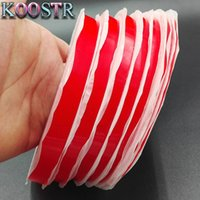 Wholesale red tape double sided resale online - 2 mmx25mRed Acrylic Acid Double Side Adhesive Tape Sticky For Phone LCD Screen Panel Repairing Red Tape Mix Size