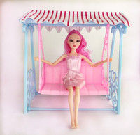 One Set Doll Accessories Princess Cute Garden Swing For 1 6 BJD Doll Barbies  furniture Pretend Play Toys for Girl Doll Toy 92f4c3310a7a