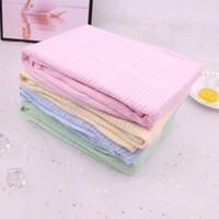 bebek havlu satışı toptan satış-Sıcak Satış 100% Bambu Elyaf Muslin Battaniye Baskı Çiçek Bebek Yatak Banyo Havlu Battaniye Düz katı baskı pamuk Duş Hediyeler