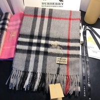 Wholesale winter scarf design men resale online - With Box Cashmere Fashion luxury Large Scarves Men and women Long Cashmere Winter thick Wool Soft Warm design Scarf Wrap Shawl echarpe homme