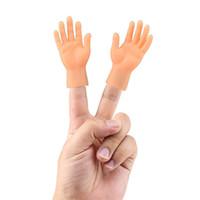 juguetes de madera para montar al por mayor-2 piezas / juego Novel cinco dedos de la mano Modelo 4 * 8 cm Palma Abierta se refiere a la marioneta del dedo del juguete conjunto izquierdo y la mano derecha Modelo