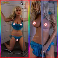 künstliche vagina japanische puppe großhandel-145cm Naturgetreue Sex-Puppe mit Huge Ass japanische Silikon-erwachsenes Liebespuppen Big Breast künstliche Vagina echten Pussy Oral Sexy Spielzeug