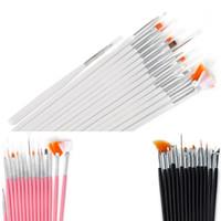 tırnağın sanatı fırçaları nokta vurma aletleri seti toptan satış-Pro Nail Art Fırçalar Set 15 ADET Lehçe Boyama Astar Nail Art Beraberlik Baskı Fırçalar Set Manikür DIY Süsleyen Noktası Aracı Kitleri TTA554