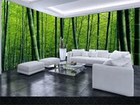 Wholesale huge beds for sale - Group buy custom size d photo wallpaper living room bed room mural huge bamboo forest scenery d picture sofa TV backdrop wallpaper non woven sticker
