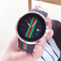 yeni saat erkek modeli toptan satış-Toptan Yeni Model Moda Lüks Man / Kadınlar İzle Relojes De Marca Mujer Lady Elbise İzle Lastik bant Quartz Saat Japonya hareketi