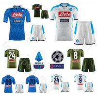 secadora al por mayor-FC SSC Napoli 2019 2020 Soccer 99 Arkadiusz Milik Jersey Set 24 Lorenzo Insigne 20 Piotr Zielinski Dries Mertens Kits de camiseta de fútbol Uniforme