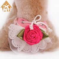 Wholesale dog sanitary diapers resale online - Fashion Dog Clothes Flower Pattern Pet Dog Panties Strap Sanitary Underwear Diapers Physiological Pants Clean Panties