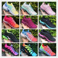 ingrosso uva calda-Vendite calde 2019 nuove scarpe Tn Plus uva Volt Hyper Violet blu donne scarpe da corsa a buon mercato triple bianco nero allenatore Tn cuscino sneakers