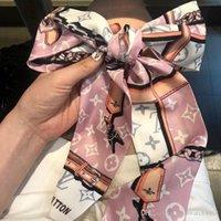 cabelo pequeno das meninas venda por atacado-mulheres fita de moda de seda cachecol bela mistura de design meninas lenço punho saco faixa de cabelo envolve pequenas écharpe 53 ro