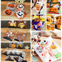 Wholesale bread packing bags resale online - Artistic Design Halloween Candy Self adhesive Bag pack Lovely Cookie Candy Bread Packaging Bags Gift Bag Baking Bags Pouch Box Supply