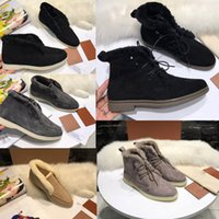 Wholesale skins boots for sale - Group buy Designer Brand Open Walk Suede Sneaker Ylvi Walk Suede Calf Skin Shoes Women casual shoes Men Walking Flats classic casual snow boot
