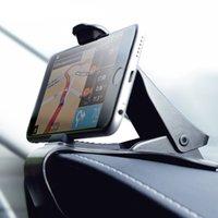 крепление подставки для клипсов оптовых-Универсальный регулируемый автомобиль приборной панели Держатель телефона смартфон GPS стенд зажим клип кронштейн для iPhone X XS XR XS MAX Samsung Redmi