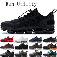 kentsel spor ayakkabıları toptan satış-2019 Run Utility erkek kadın koşu ayakkabı üçlü siyah Yansıtan Gümüş Kentsel Sıçrama Erkekler için Antrasit trainer nefes spor sneakers