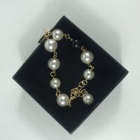 ingrosso accessori della scatola della miscela-Nuovo stile braccialetto in lega di perle con scatola ornamenti a mano accessori moda braccialetto oro e argento mescolati per regali contatore 2 pz / lotto