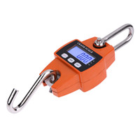 Wholesale industrial cranes for sale - Freeshipping Mini Industrial Heavy Duty Crane Scale Portable LCD Digital Electronic Hook Hanging Weight Scales kg Kg LB and N