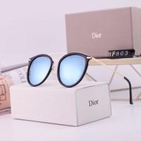 gafas de gafas de época al por mayor-Gafas de sol ovaladas de moda de alta calidad para hombres y mujeres Diseñador de la marca Vintage Gafas de sol Gafas Sombras Oculos con estuches y estuches gratuitos