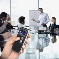 reprodução do gravador de voz venda por atacado-Voz Áudio Best New recarregável 8GB Gravador Digital Dictaphone Telefone MP3 Player ET
