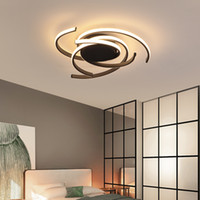 lampara blanca negra al por mayor-Materia Negro Ideal Montaje en superficie Moderno led Luces de techo para sala de estar Dormitorio Aluminio Blanco AC85-265V Lámpara de techo