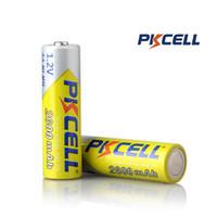 batería pkcell al por mayor-100% auténtico PKCELL 14500 14490 batería 2600MAH 1.2V NiMH recargable NO5 baterías para control remoto juguetes electrónicos herramientas ventiladores