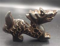 animais de pedra esculpida venda por atacado-Fine Antique Chinesa Hongshan Cultura Jade pedra Mão-carved Antigo animal vaca estátua
