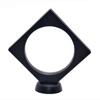 Wholesale crystal display base stand resale online - Jewelry display for rings and earrings mm mm circle inside white and black are all available Including the base