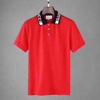 yabancı polo gömlekleri toptan satış-Erkek t-shirt kısa kollu basit cömert baskı yaka Polo gömlek erkek çabuk kuruyan basit dış ticaret ihracat makas