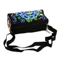 monedero etnico al por mayor-Lady's Vintage Spring Summer Women Ethnic Handmade Bordado Wristlet Clutch Bag Handmade Woven Vintage Purse Wallet