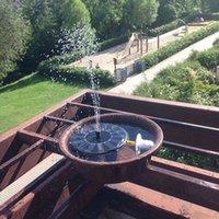 dc bombas de água venda por atacado-Vendas quentes Movido A Energia Solar 3 Diferentes Cabeças de Pulverização Conjunto de Bomba de Água Jardim Fountain Pond Kit Cachoeiras de Água Display Solar DC bomba