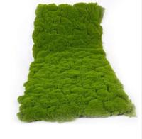 ingrosso green moss-1 m * 0.5 m simulazione verde vegetale parete muschio tappeto erboso simulazione prato verde pianta scena display vetrina falso muschio prato artificiale