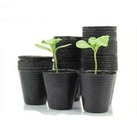 ingrosso piante di semi di giardino-1000 pz 13 * 12 cm Rotondo Nutrizionale Plastica Nero Vasi Vasi Piantine Vasi Piante Giardino Per Semi Di Fiori Vegetali
