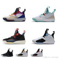 yeni yardımcı kutu toptan satış-Satılık erkek Jumpman XXXIII 33 s retro basketbol ayakkabı j33 Görünür yardımcı black out Gelecek uçuş yeşim aj33 ile yeni 33 sneakers çizmeler
