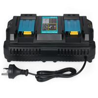 4a batterieladegerät großhandel-Akku-Ladegeräte für Elektrowerkzeuge DC18RD-Schnellladegerät mit zwei Anschlüssen Geeignet für Makita 4A 120W-Akkus mit 7,2 bis 18 V Netzteil