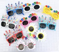 Wholesale shaped birthday cakes for sale - Group buy Children s Birthday Decoration Glasses Creative Happy Birthday Party Decoration Photo Prop Cake Shape Glasses Hot Sale XD23246