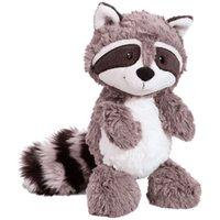 25cm Gray Raccoon Plush Toy Lovely Raccoon Cute Soft Stuffed Animals Doll Pillow For Girls Children Kids Baby Birthday Gift