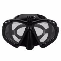 óculos de mergulho venda por atacado-Máscara de mergulho subaquática profissional Scuba Snorkel Natação Óculos de Mergulho Equipamento de Mergulho Adequado Para A Maioria Da Câmera Do Esporte