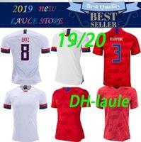 camisas de futebol de qualidade eua venda por atacado-2019 Copa do mundo América Camisa De Futebol Dos Estados Unidos Camisa 19 20 EUA PULÍSTICO LLOYD KRIEGER homens mulher Uniforme de Futebol Feminino tailandesa qualidade