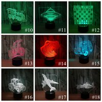 Wholesale usb table light resale online - Haoxin Novelty D Lamp Camera Illusion LED USB Lamp Touch RGB Color Changing Table Night Light Bedside Decoration LED Lamp Dropship